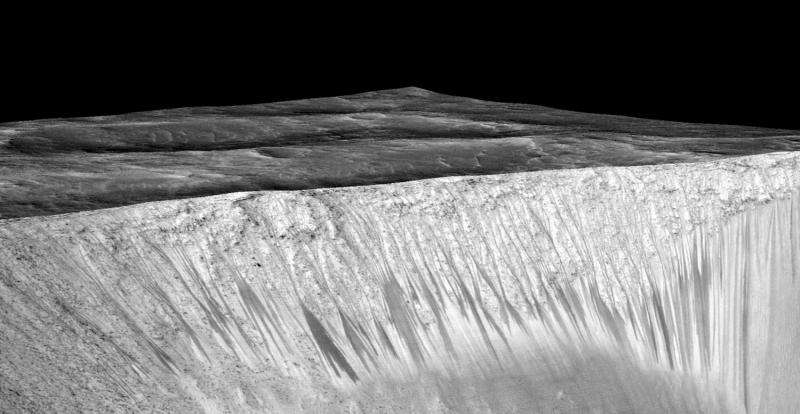 Evidence of brine 'flows' on Mars: water study