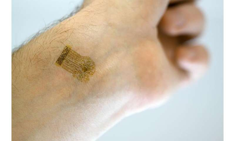 Thin film device able to measure blood flow in new way