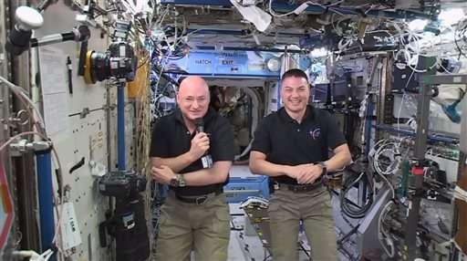 NASA astronaut hits halfway point of yearlong spaceflight