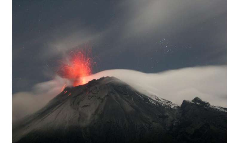 What are the different parts of A volcano?
