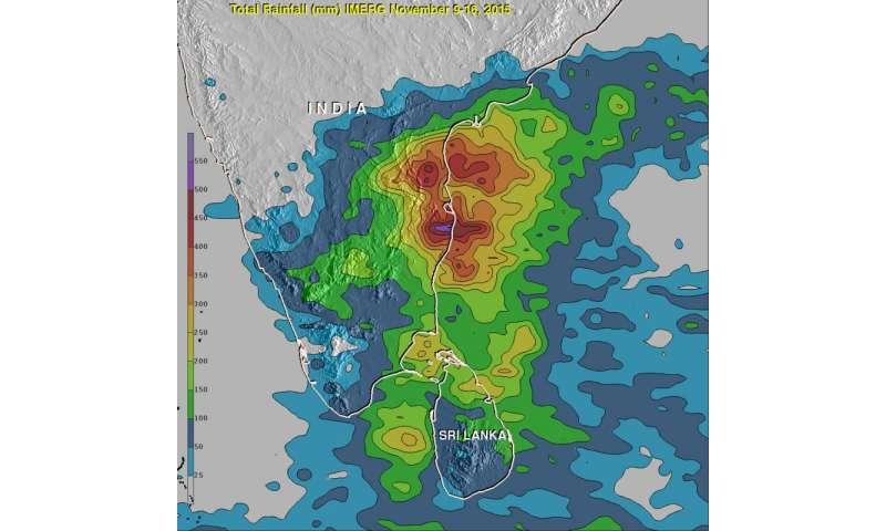 NASA measures India's deadly flooding rains