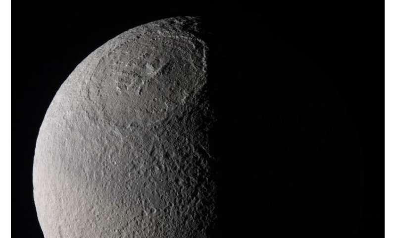 Saturn's moon Tethys