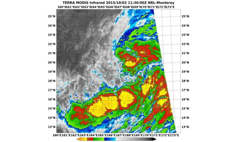 NASA sees Tropical Depression Choi-wan form