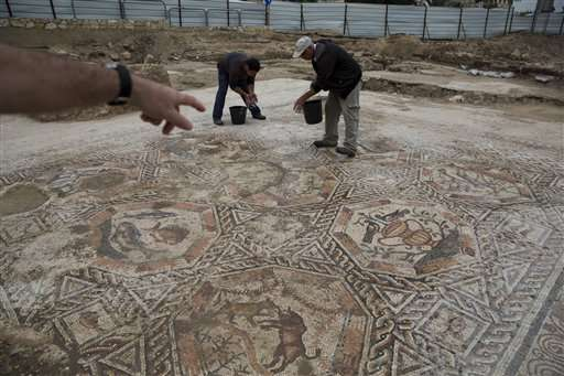 Israel unveils Roman-era mosaic found during construction