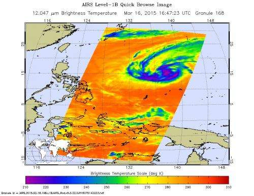 NASA sees Tropical Cyclone Bavi losing steam