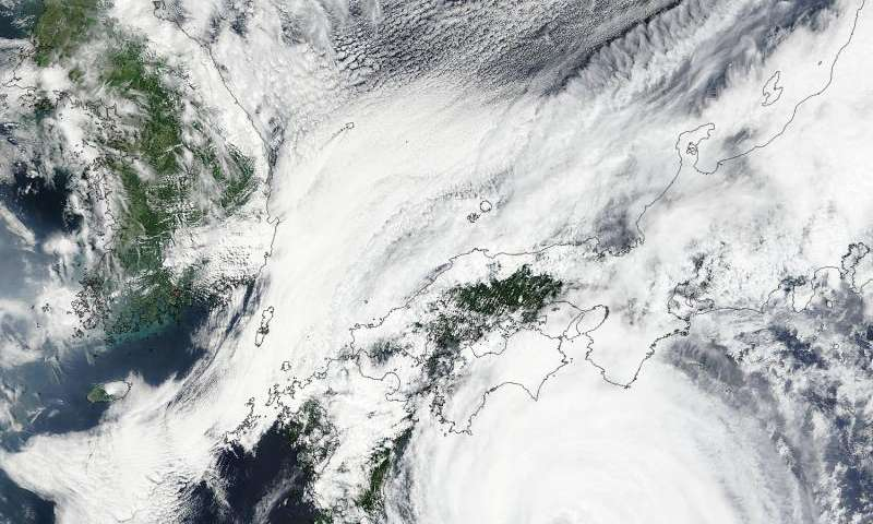 NASA sees Typhoon Nangka knocking on Japan's door