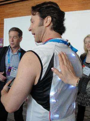 Neuroscientist David Eagleman wears a VEST tailored to expand the range of human senses by translating information into vibratio