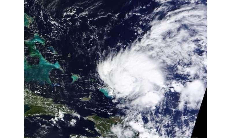 NASA sees Tropical Storm Kate form, Bahamas under warning