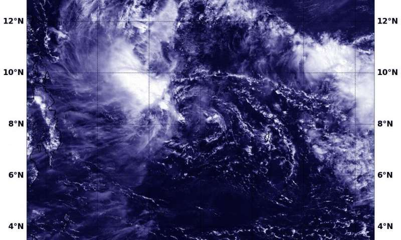 NASA sees Tropical Depression 29W affected by wind shear