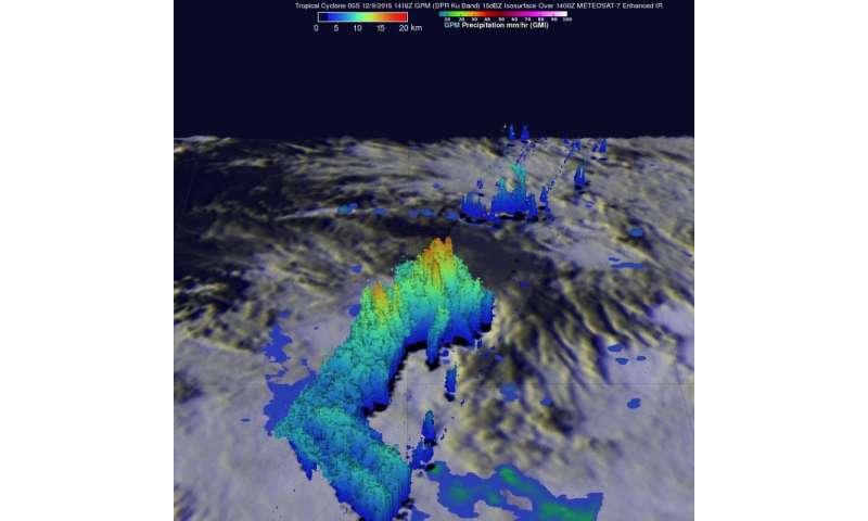 NASA measures rainfall in Tropical Cyclone Bohale