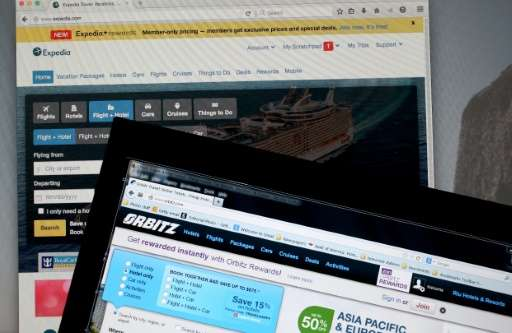 Activist group Consumer Watchdog said in a letter to the Justice Department that the tie-up of online travel bookers Expedia and