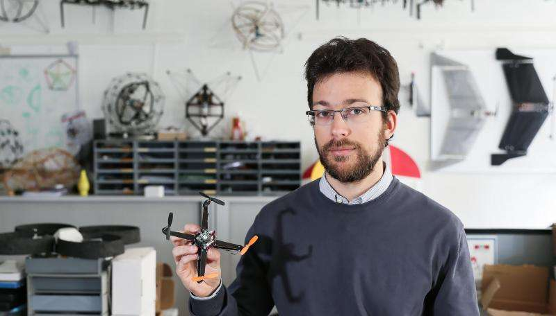 A folding drone that's ready for takeoff in a snap