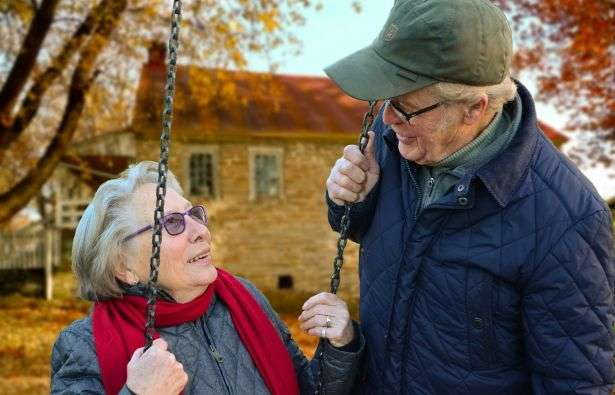 Aging couples connected in sickness and health
