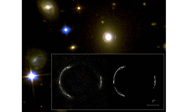 ALMA uses 'natural telescope' to image monstrous galaxy near the edge of the universe