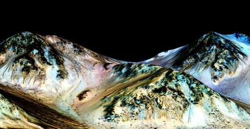 A Mars landscape, seen in a NASA image released September 27, 2015; the space agency announced December 22 it has suspended the