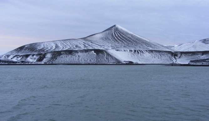 An Antarctic volcano that just doesn't make any sense
