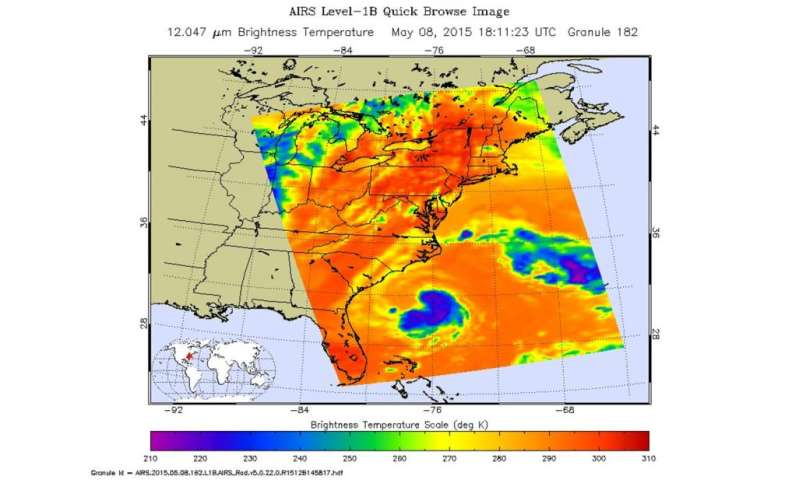 Ana tightens up and becomes tropical