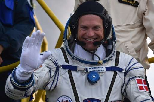 Andreas Mogensen, the first Dane in space, had a comparatively short stay at the ISS having entered space in the Soyuz TMA-18M o