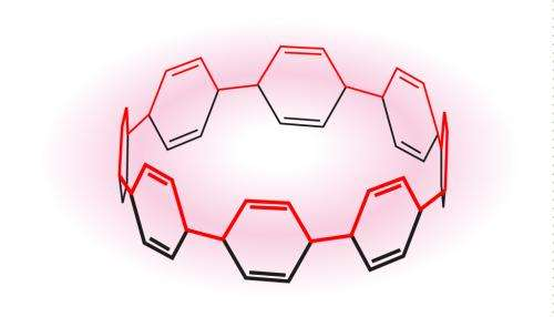 An unusual form of carbon ring structure identified in a family of doughnut-like macrostructures