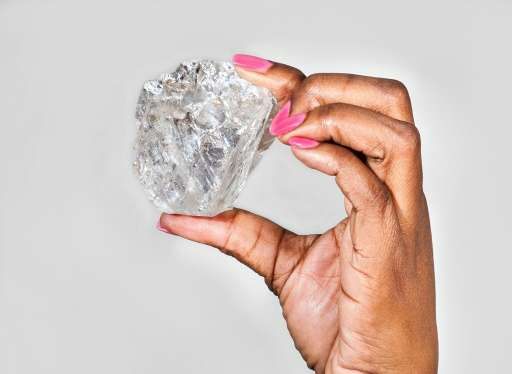 A picture from the Lucara Diamond Corporation of the 1,111 carat gem quality, Type IIa diamond