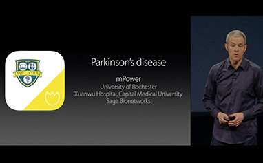 Apple highlights Parkinson's app