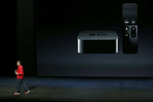 Apple Senior Vice President of Internet Software and Services Eddy Cue speaks about the new Apple TV on September 9, 2015 in San