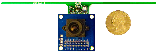 Battery-free smart camera nodes automatically determine their own pose and location