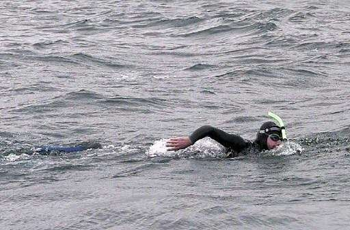 Benoit Lecomte became the first person to swim across the Atlantic without a kick board in 1998