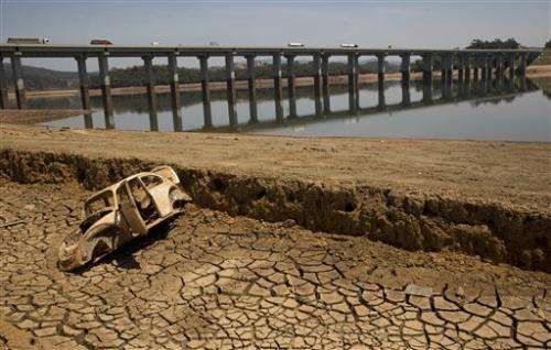 Biggest reservoir for Brazil's largest city is running dry