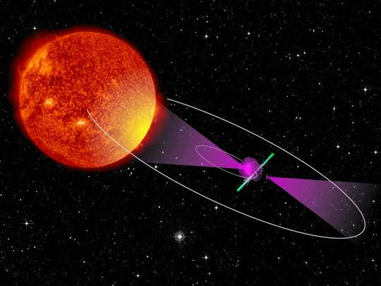 Binary star system precisely timed with pulsar's gamma-rays