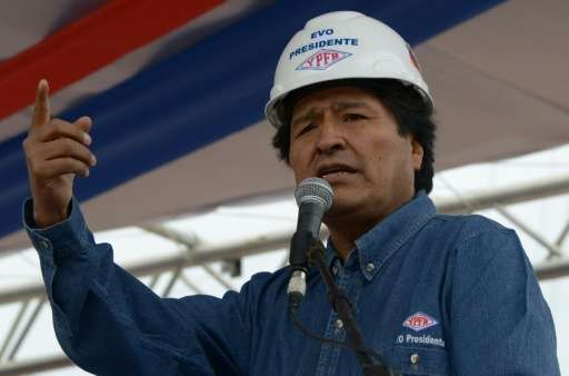 Bolivian President Evo Morales, pictured on June 18, 2015, pledged the oil exploration would not have detrimental environmental