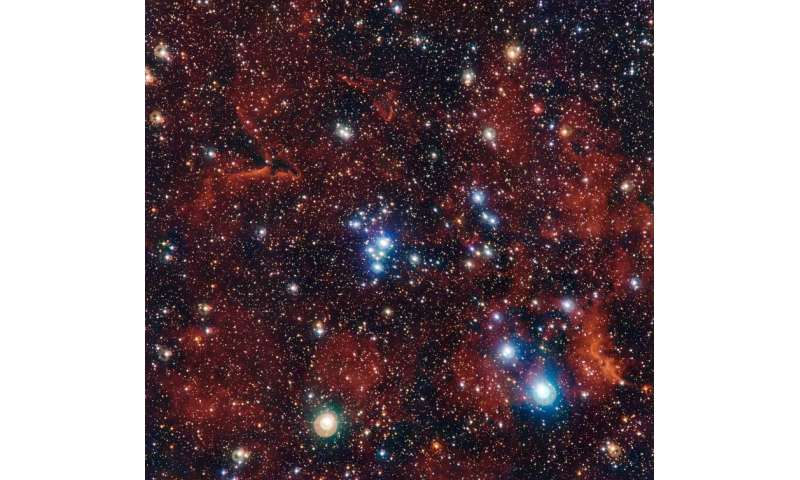 NGC 2367: Buried in the heart of a giant