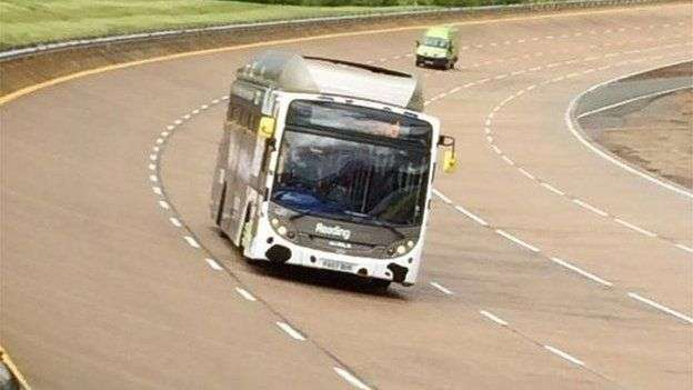 Bus sets speed record, runs on biomethane compressed natural gas