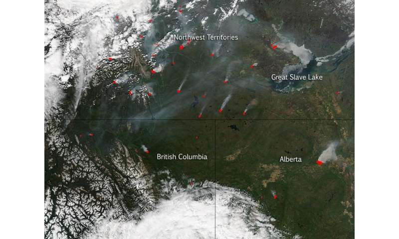 Canadian wildfires continue and increase