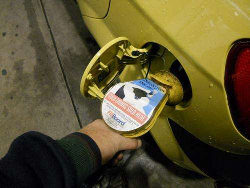 Can you save money at the bowser by only half-filling the fuel tank?