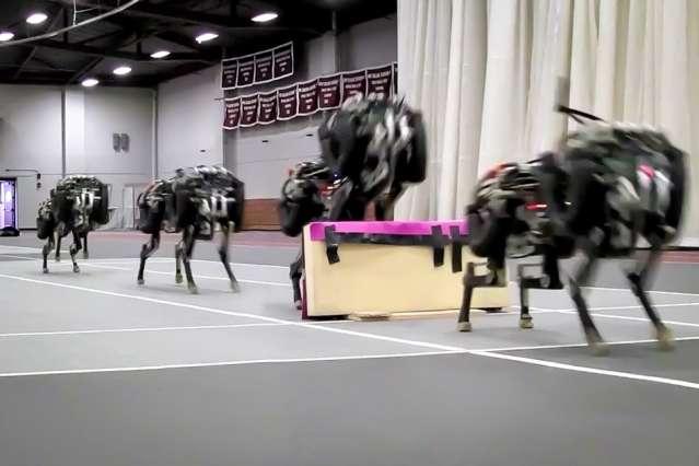 Cheetah robot lands the running jump