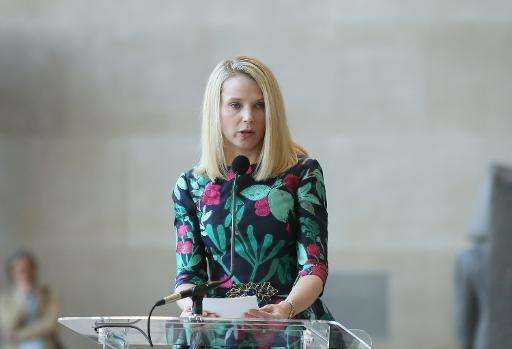 Chief executive Marissa Mayer, pictured on May 4, 2015 in New York, said in a recent earnings release that Yahoo is in the midst