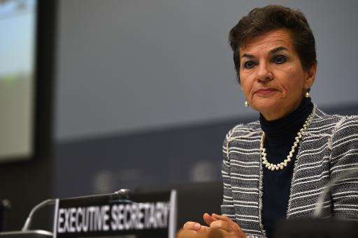 Christiana Figueres, Executive Secretary of the United Nations Framework Convention on Climate Change (UNFCCC), attends the Unit