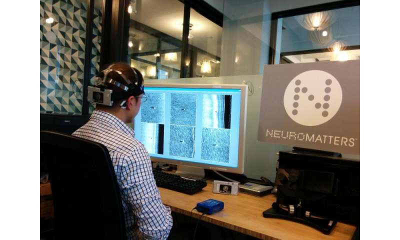 Combining computer vision and brain computer interface for faster mine detection