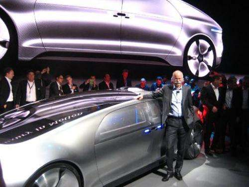 Daimler chief Dieter Zetsche introduces the Mercedes-Benz F 015 autonomous concept car at the Consumer Electronics Show in Las V