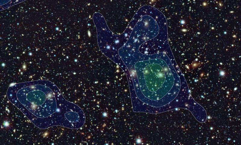 Dark matter map begins to reveal the universe's early history