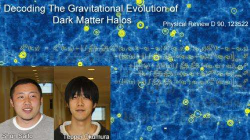 Decoding the gravitational evolution of dark matter halos