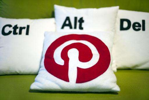 Decorative pillows set the scene at a Pinterest media event at the company's corporate headquarters office in San Francisco, Cal
