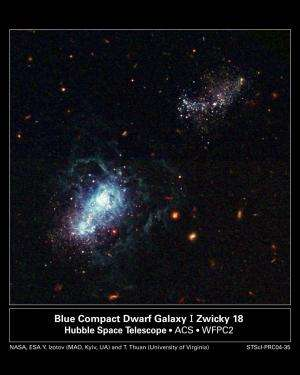 Dwarf galaxy that reveals the history of the universe