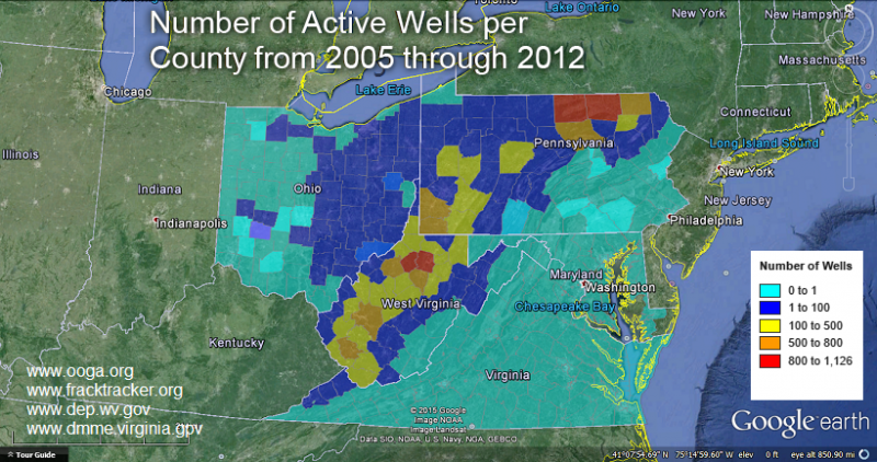Emissions from natural gas wells may travel far downwind