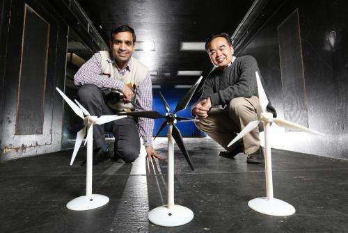 Engineers study the benefits of adding a second, smaller rotor to wind turbines