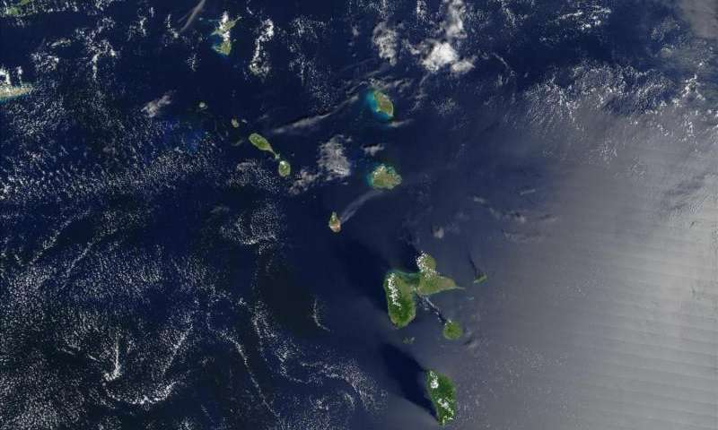 Evidence of past volcanic activity in the Caribbean Sea