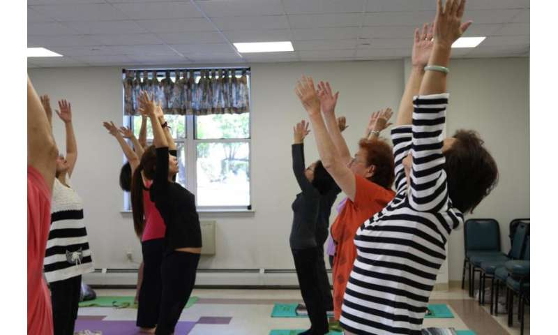 Exercise program in senior centers helps decrease participants' pain and improve mobility