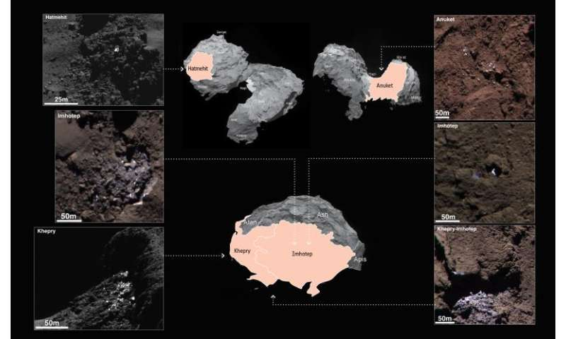 Exposed water ice detected on comet's surface