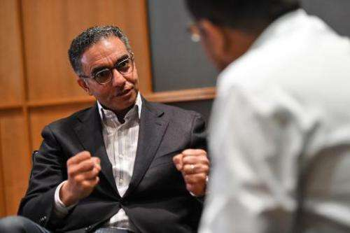 Fadi Chehade, chief executive of the Internet Corporation for Assigned Names and Numbers (ICANN), speaks during an interview wit